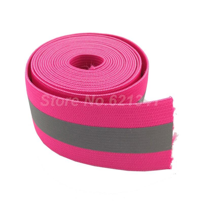 Cinta de tejido elástico 10mm Ancho-rosa-Por Metro