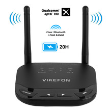 VIKEFON 80m Long Rang Bluetooth 5.0 Audio Receiver Transmitter Bypass Aptx HD Low Latency CSR8675 AUX Optical Wireless Adapter