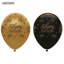 MEIDDING-10pcs/lot 12inch happy birthday latex balloon for bride shower kids birthday Party Balloons decoration party supplies