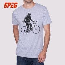 21a6e28a86 T Shirt Men Sasquatch Cyclist Biking Funny Chimpanzee Men O-Neck Monkey Short  Sleeve Tees Shirt Brand Adult Cotton T-Shirt Sale