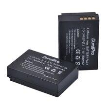 2 Pcs x DuraPro 7.4V 1800mAh LP-E12 LP E12 LPE12 Camera Battery For Canon EOS M M2 100D Kiss X7 Rebel SL1