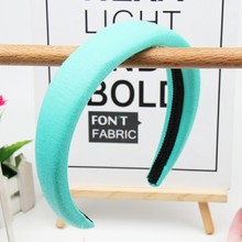 Hair Accessories Cotton Headbands For Women Sponge Hairbands Girls Solid Color Headband  Hair Hoop xugar pearl hair turban headbands for women girls solid color outdoor sport hairbands women hair accessories