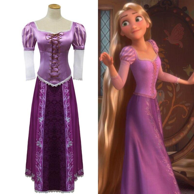 Raiponce princesse Cosplay Costume pour adolescente Junior filles magie longue violet balle film fête dentelle robe adulte femmes fantaisie tenue