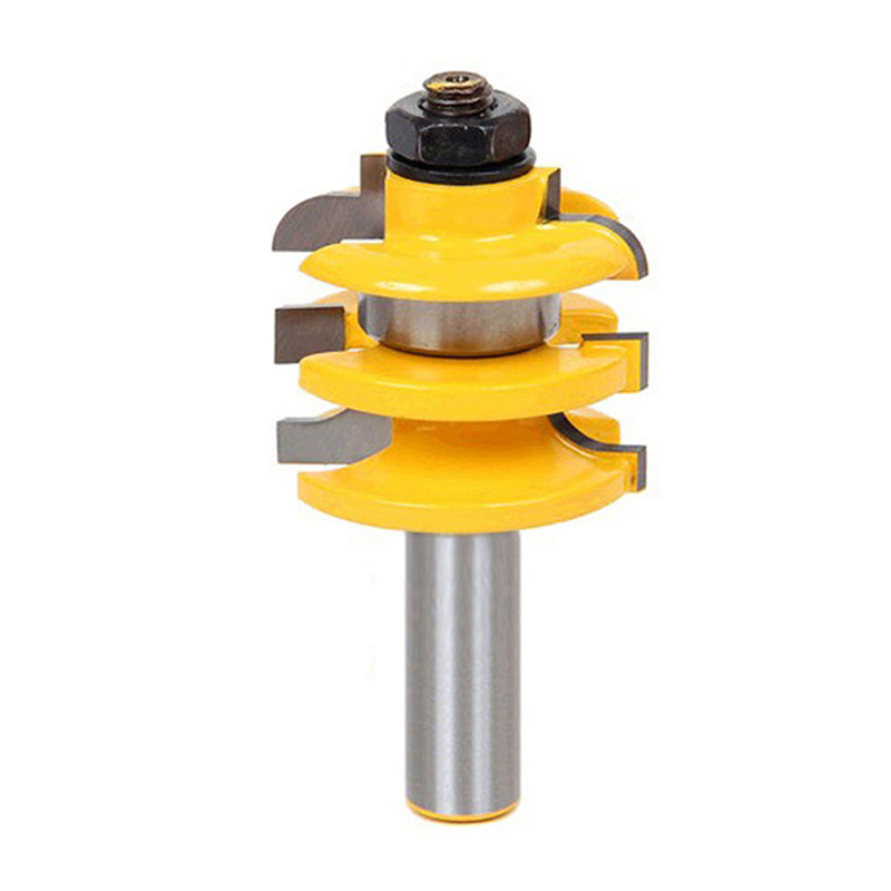 1pc 1/2 Shank Router Bit Ogee Stacked Rail & Stile Woodworking Bearing Cutter DIY Wood Tool high grade carbide alloy 1 2 shank 2 1 4 dia bottom cleaning router bit woodworking milling cutter for mdf wood 55mm mayitr
