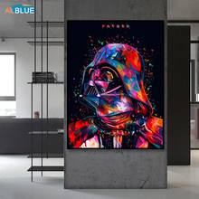 Star Wars 7 Canvas Print Darth Vader Wall Art Canvas Painting Nordic Posters And Prints Wall Pictures For Living Room Decoration(China)