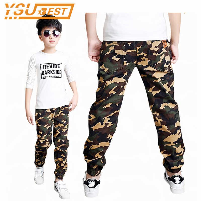 16a167f4 Камуфляжные брюки для детей от 3 до 14 лет, новинка 2019 года, одежда для