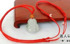 Buy a send four to send genuine Burmese stone laugh Buddha pendant necklace men and women jewelry JADES jewelry beads
