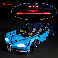 Led Light For Lego 42083 Bugatti Chiron technic race Car Building Blocks Toys Gifts (only light+Battery box)