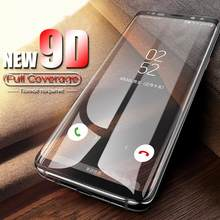 9D Full Cover Screen Protector For Samsung Galaxy J3 J5 J7 pro J7 Plus Tempered Glass For Galaxy A3 A5 A7 2017 A5 A6 A7 A8 2018(China)