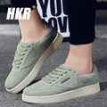 HKR 2017 spring women casual lace-up platform flats shoes women creepers shoes ladies moccasins leather suede walking shoes 8511