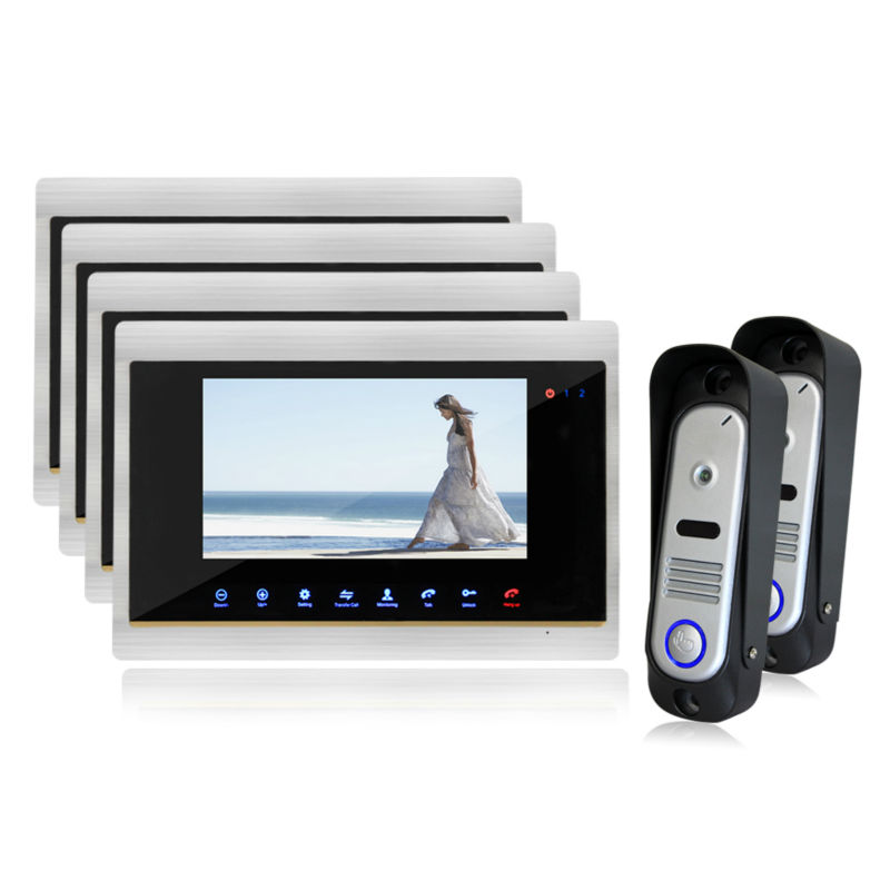 Homefong Video Door Phone With Handsfree Dual way Intercom and Indoor Monitoring Function Door Bell Camera