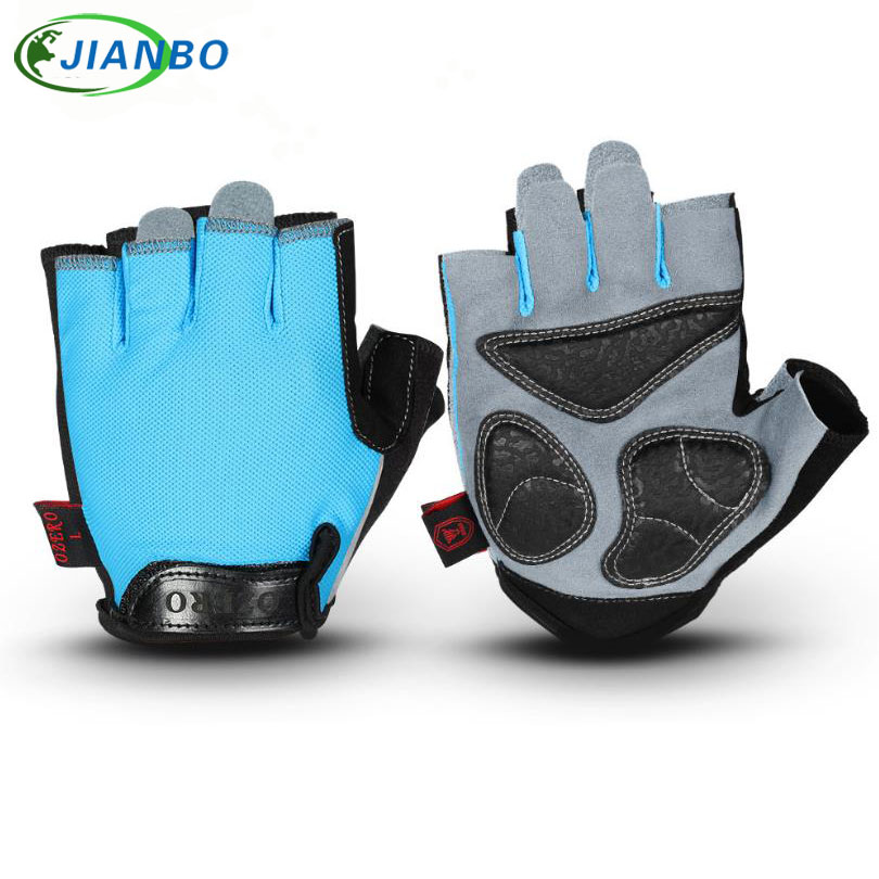 Half Finger Cycling Glove Unisex Outdoor Sports Breathable Fitness Weight Lifting Workout Running Fingerless Work Gloves Cowhide
