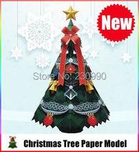 Precioso Árbol de Navidad Kits Para Niños Adultos de Navidad Decoración Modelos De Papel Modelo de Papel Juguetes De Hobby Altura 55 cm/21.65»
