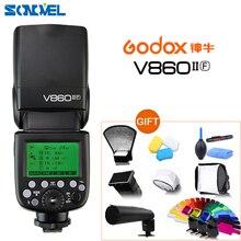 Godox Ving V860II V860II O S C N F TTL HSS 1/8000 li ion pil TTL Speedlite Flaş Için Olympus Panasonic Sony Canon nikon