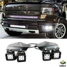 4X yüksek güç LED sis işık ile tutun Stand braketi 2010 2014 FORD F150 SVT Raptor