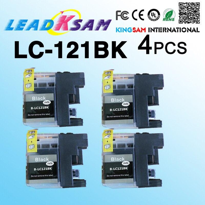 4 шт., совместим с чернильным картриджем LC 121 LC121 LC121BK