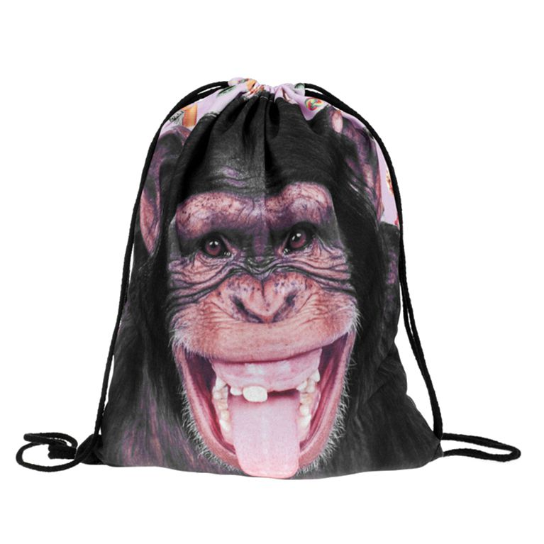 Fashion Drawstring Backpack Personality And Contracted Design Bag Men And Women All Appropriate 3D With Fashion Accessories