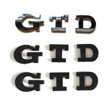 100 teile/los NEUE ABS Kleine GTD Auto Emblem Abzeichen Aufkleber Logo