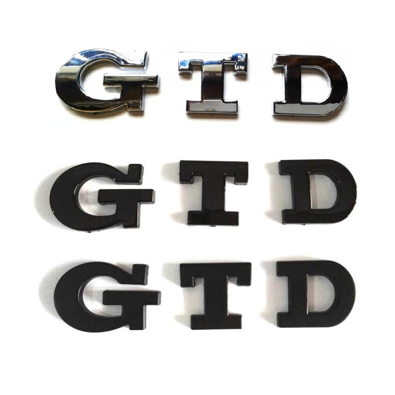100 st / lot NYHET ABS GTD Car Emblem Badge Sticker Logo