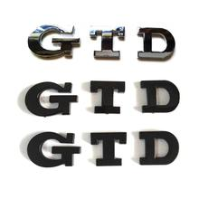 100pcs/lot NEW Chrome GTD VW Car Emblem Badge