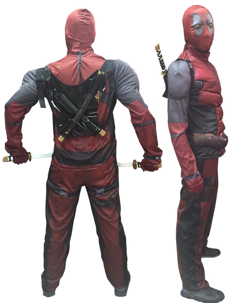 Popular Deadpool Costume No Mask-Buy Cheap Deadpool Costume No ...