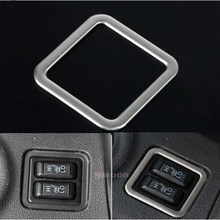 Bouton de chauffage du siège intérieur de la voiture | Cadre décoratif modification de la garniture en acier inoxydable pour Mitsubishi Outlander 2013-2016(China)