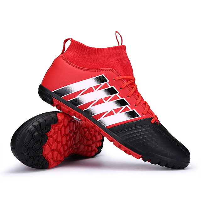 1aad5395d390 2017 High Ankle Kids Football Boots Superfly Original Cheap Indoor Soccer  Shoes Cleats Boys Girls Sneakers High Quality