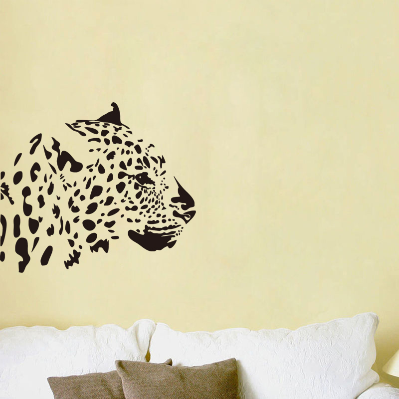 Charming Leopard Decals Home Decor Wall Sticker Adhesive Removable Kitchen Sticker  Funny Mural Sticker Bedroom Decal Living
