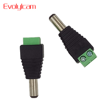 Evolylcam 25pcs/lot Professional CCTV BNC Accessories Male DC Power Converter for CCTV Camera System Security Connector