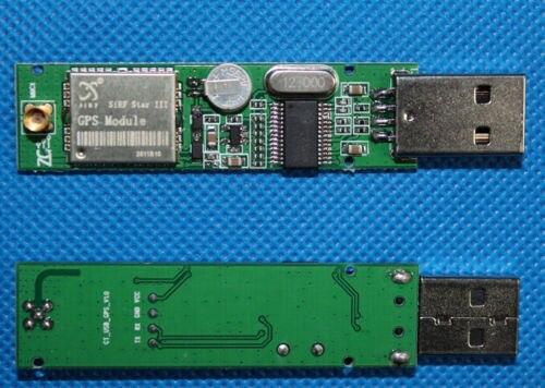 1pcs Car PC USB Interface GPS Receiver Module SIRF3 Module + MMCX External Antenna