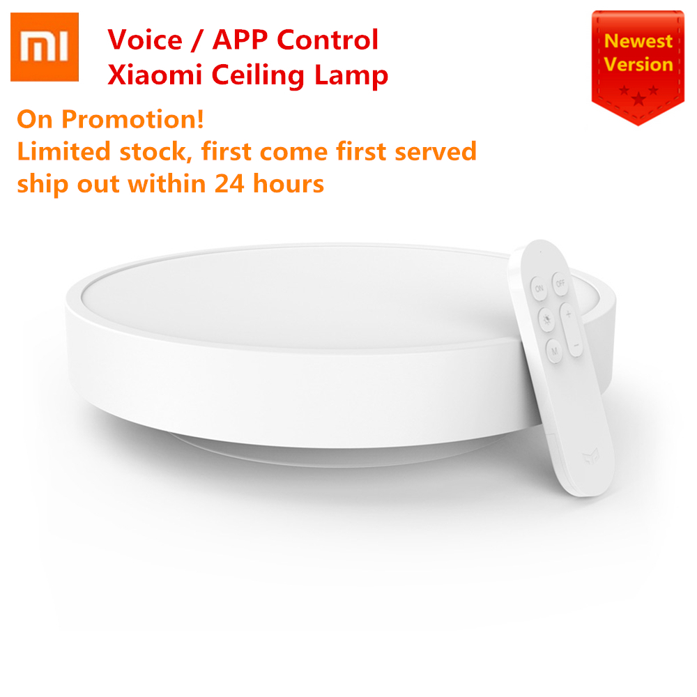 2020 Newest Xiaomi Yeelight Smart Ceiling Light Lamp Remote Mi APP WIFI Bluetooth Control Smart LED Color IP60 Dustproof