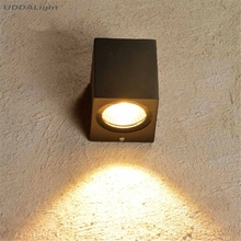 outdoor lighting wall lamps 3W 6W led wall light outdoor black round/square one 30% off