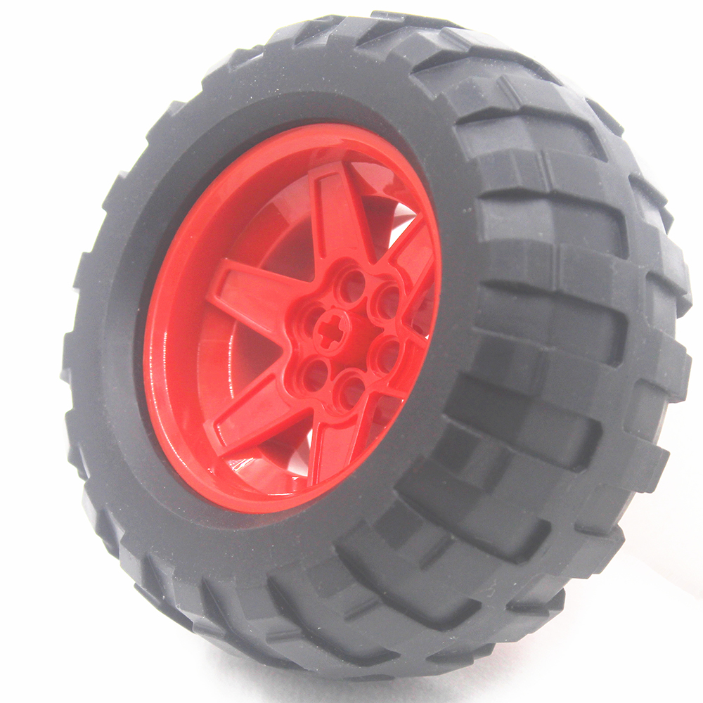 MOC Technic Parts 1pcs TYRE BALOON WIDE DIA94,8 X 44 & RIM DIA 56 X 34 Compatible With Lego For Kids Boys Toy T94.8