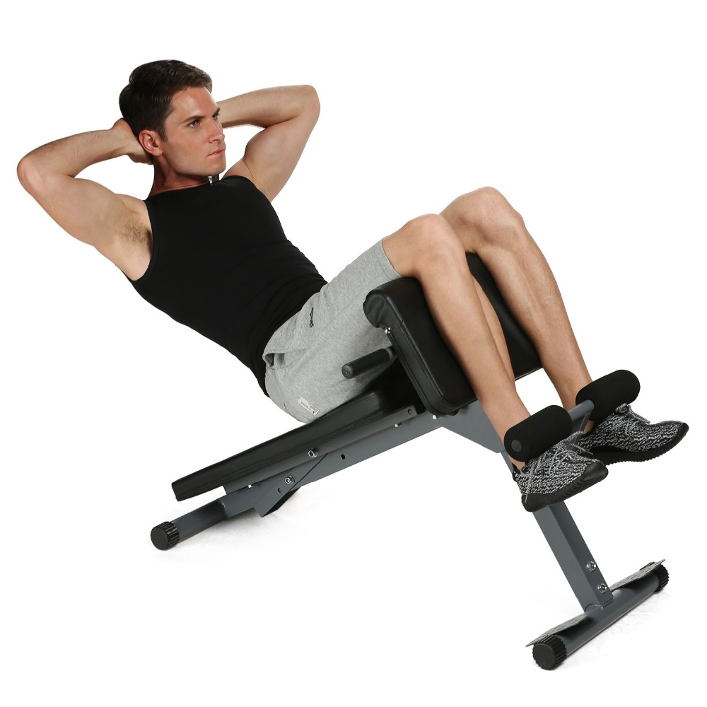 Sit Up Benches Stamina Pro Ab Bench Fitness Chair Core Strength Hyper Bench Multifunction Supine Board Fitness Machines цена