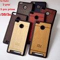 Madeira dura de luxo casos de telefone de plástico original de volta coque capa case para xiaomi redmi 3 pro prime 3 s 3x redmi3 3 s x acessórios