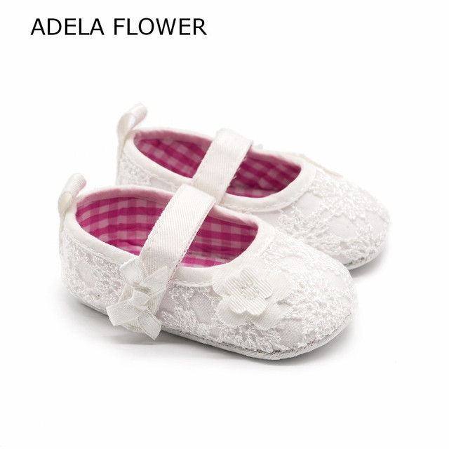 91f4a0515125d Baby Girl Shoes Pure White Lace With Flower Pram Shoes Baptism Newborn  Infant Footwear Tenis Infantil Menina First Walker 0 18M-in First Walkers  from ...