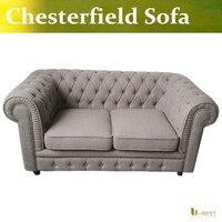 U-BEST il vintage chesterfield divano con un effetto biancheria di lusso robusto tessuto di poliestere, Divani chesterfield divano 2 posti