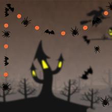 4M Paper Chain Spider Bat Pumpkin Paper Halloween Party Decoration Halloween Hanging Decoration Halloween Decor Garland Decor