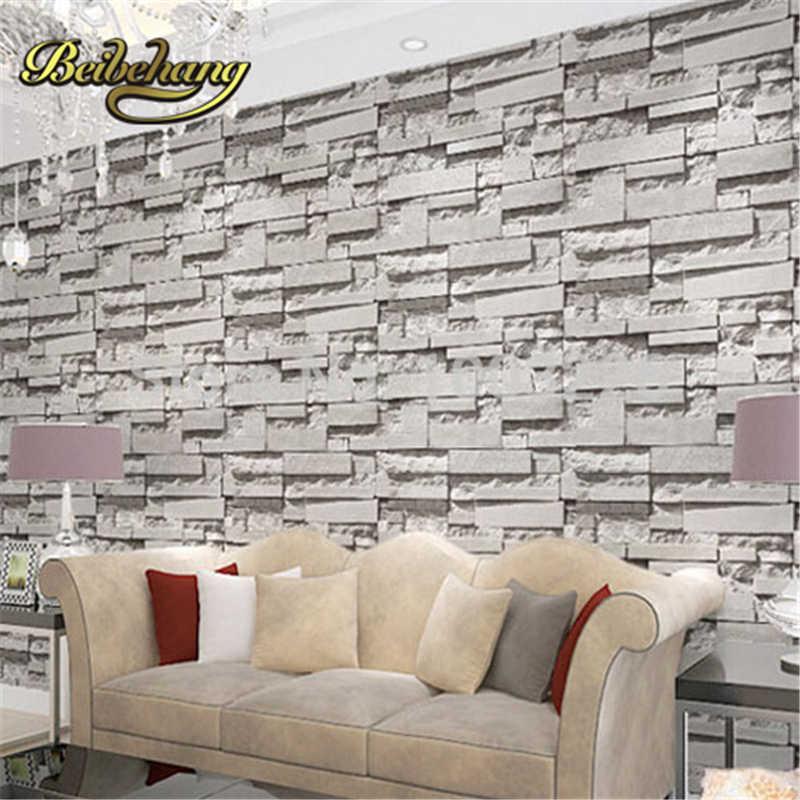 Beibehang кирпич стены бумаги 3D ПВХ обои современный Гостиная Спальня Home Decor серый винил росписи. Papel де parede