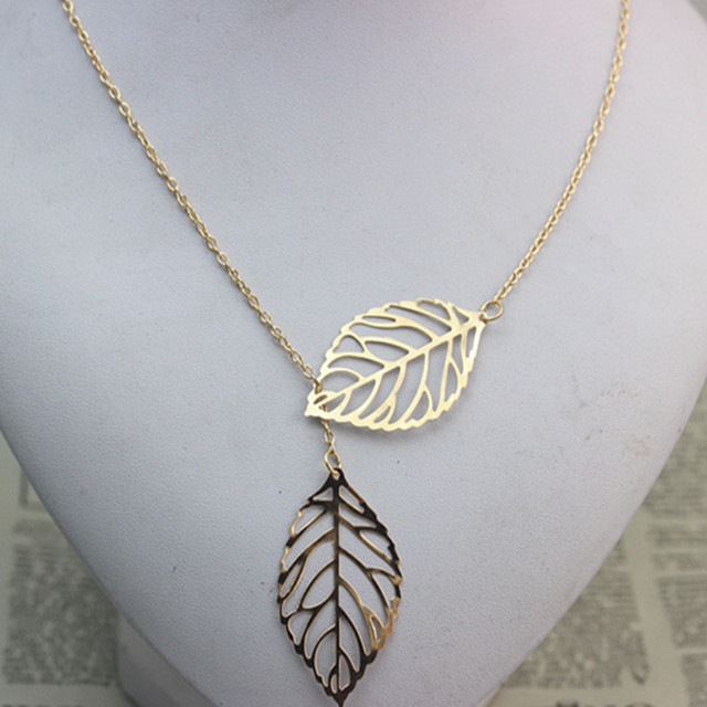 Double Leaf Necklace