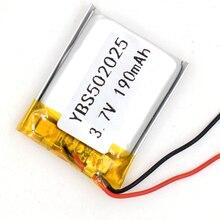 3,7 V 190 мАч литий-полимерный аккумулятор Перезаряжаемые Батарея 502025 Li-Po литий-ионный для gps Bluetooth MP3 MP4 052025