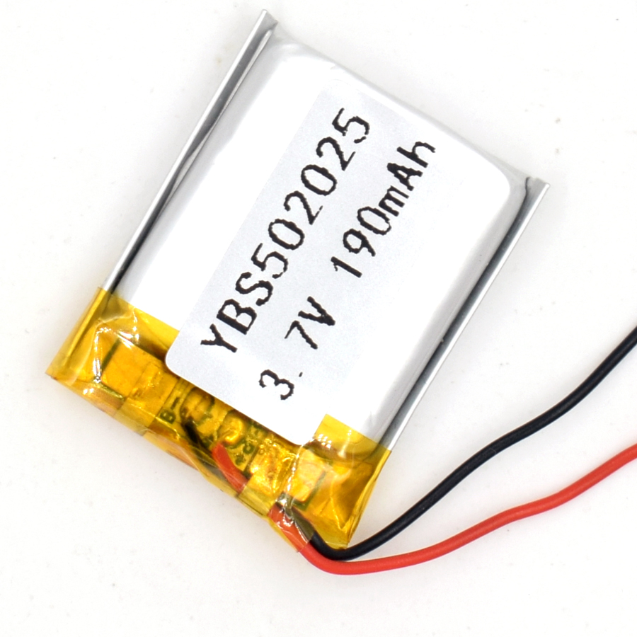 3.7V 190 mAh Li-Polymer Rechargeable <font><b>Battery</b></font> <font><b>502025</b></font> Li Po ion for GPS Bluetooth MP3 MP4 052025 image