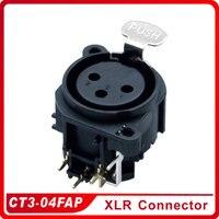 XLR Connector CT3 04FAP Female Socket Set Panel Mounted Connector Converter Adapter Jack