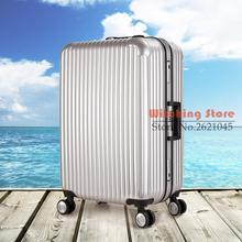 20 INCH 2024# Summer fashion Unisex a universal wheel trolley suitcase on the luggage box aluminum frame set #EC FREE SHIPPING
