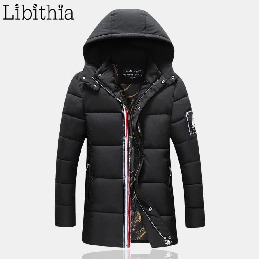Winter Jacket Men Casual Design Cotton Down Parka Men Colthing Zipper Coats Male With Detachable Hat