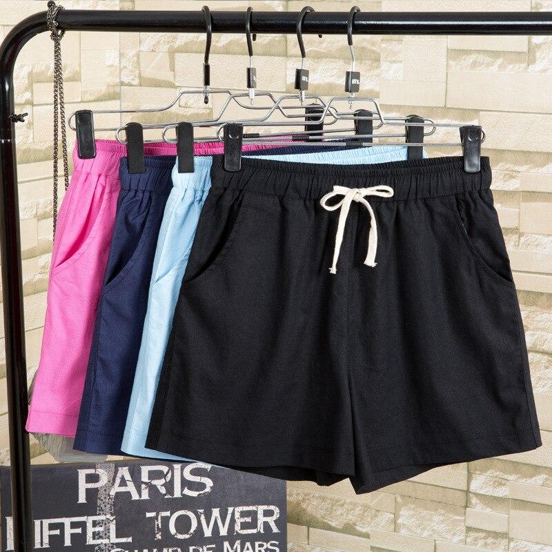 2018 Summer Boyfriend   Jeans   Women Shorts   Jeans   Retro Fashion Candy Colour Cotton Loose Pants Denim Shorts Plus Size