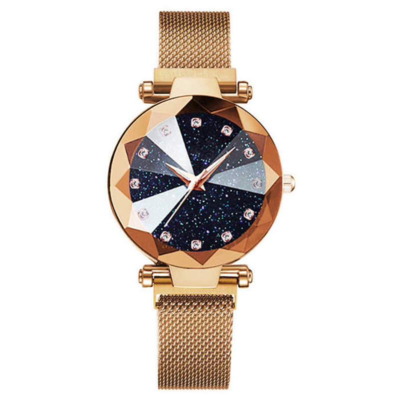 Luxury Rose Gold Women Watches Minimalism Starry sky Magnet Buckle Fashion Galaxy Casual Female Wristwatch Waterproof Ctpor Top