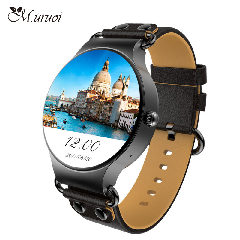 M.uruoi Smart Watch MTK6580 Quad Core Waterproof Heart Rate Monitor Remote Control Camera Message Push KW98 Smartwatch For Phone