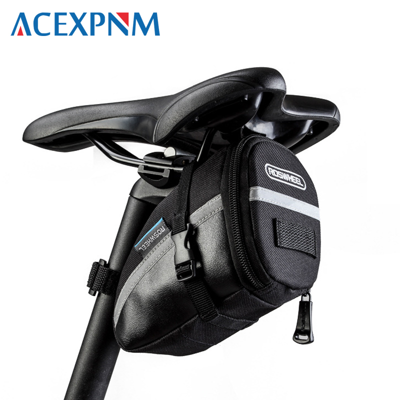 2018 Black Bicycle Saddle Bag Seat Storage Bag For Bicycle Accessories Tail Pouch Cycling Bike Rear Bolsa Bisiklet Cycling Bag roswheel bicycle bag men women bike rear seat saddle bag crossbody bag for cycling accessories outdoor sport riding backpack
