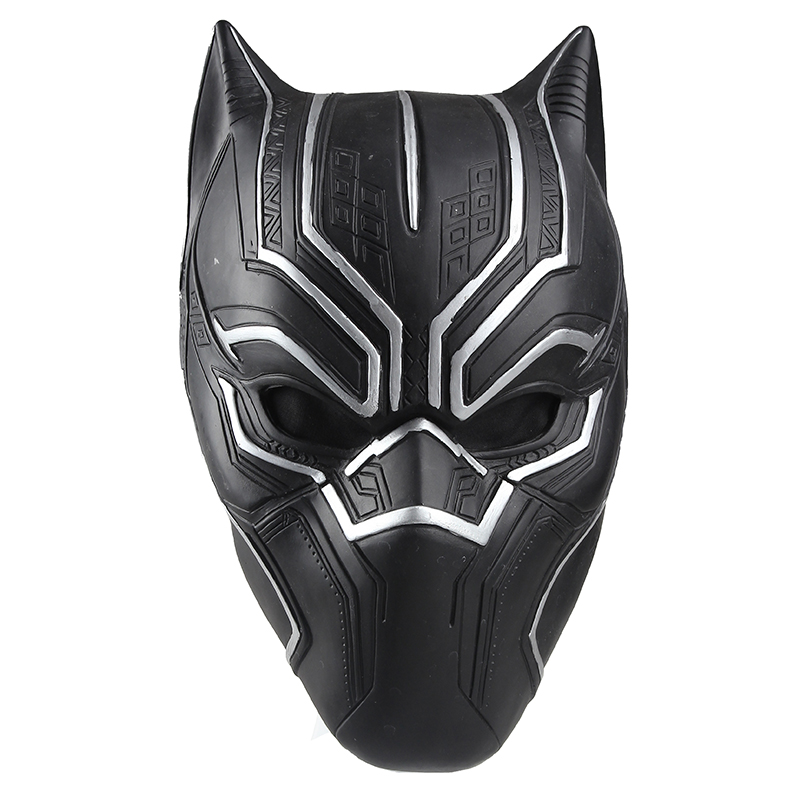 Captain America Civil War Black Panther Cosplay Helmet Black Panther Mask High Quality PVC Adult Men ask